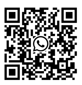 QR code that leads to the WhatsApp Group for the Dutch Café Radio live chat